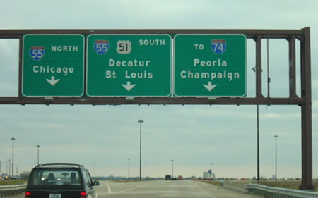 Interstate road signs